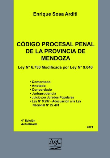 Código Procesal Penal de Mendoza.