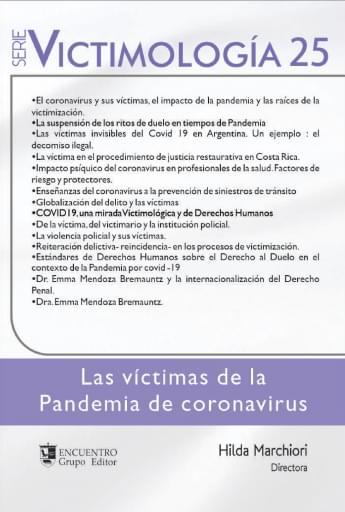 Victimologia 25, Las víctimas de la Pandemia de coronavirus