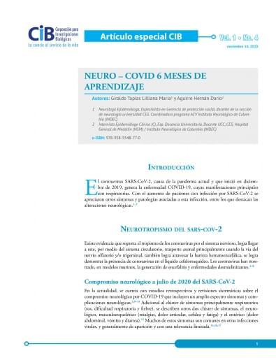 Neuro - COVID 6 meses de aprendizaje