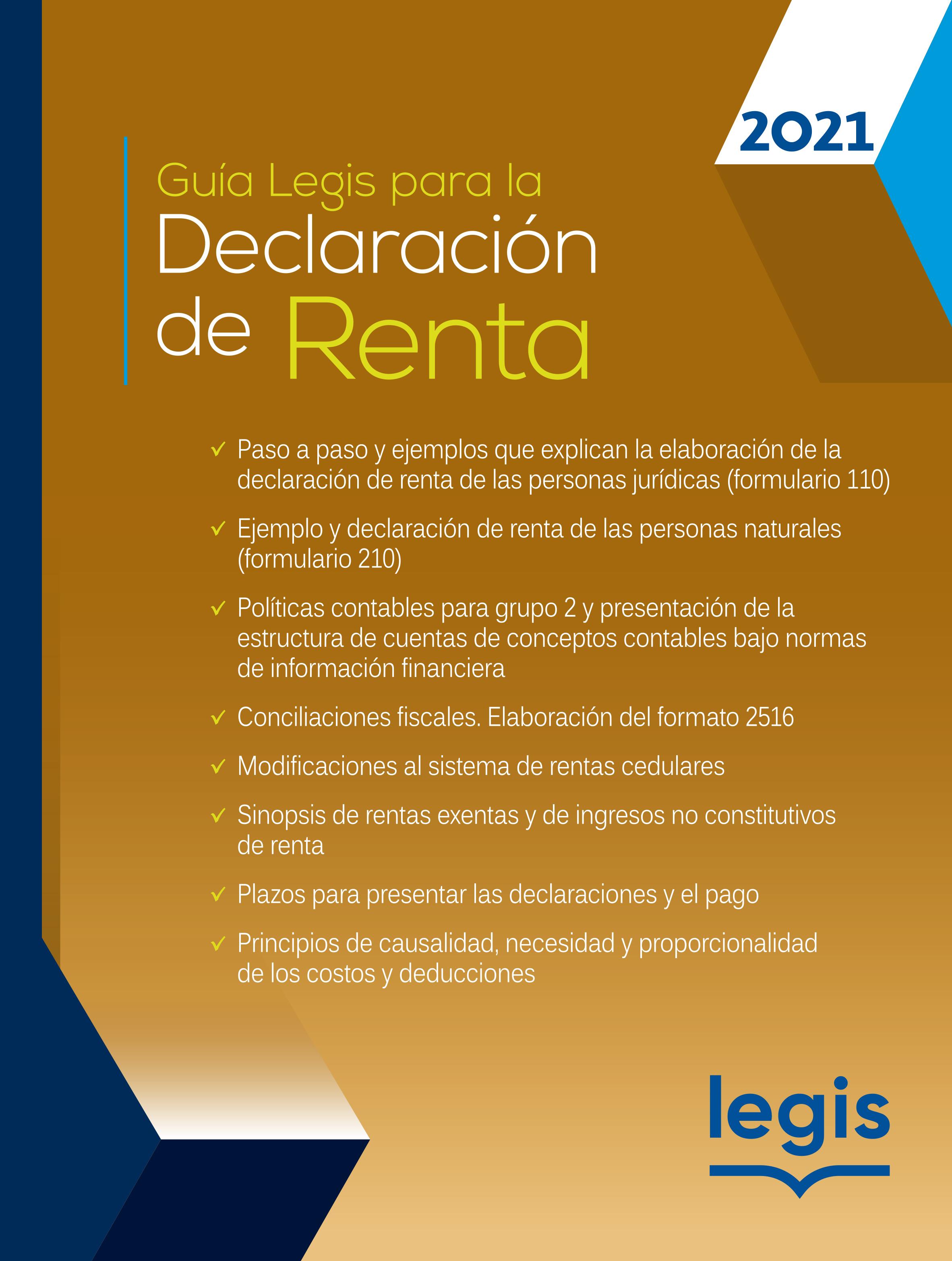 Guía Legis para la Declaración de Renta 46 Ed