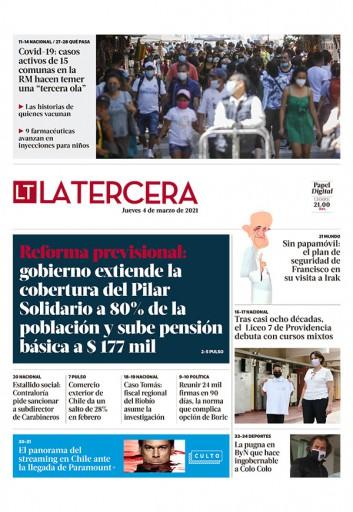 04-03-2021 La Tercera