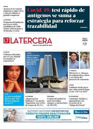 15-04-2021 La Tercera