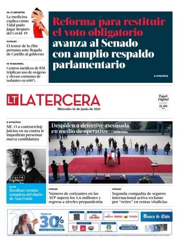 16-06-2021 La Tercera