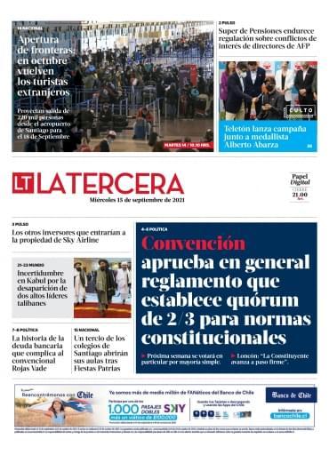 15-09-2021 La Tercera