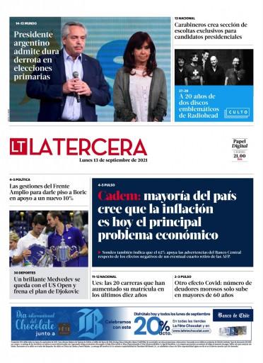 13-09-2021 La Tercera