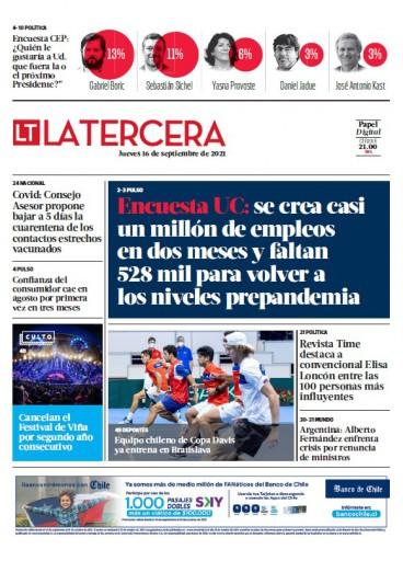 16-09-2021 La Tercera