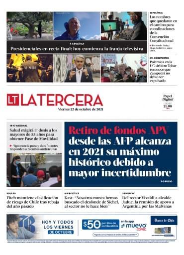 22-10-2021 La Tercera