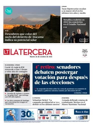 26-10-2021 La Tercera