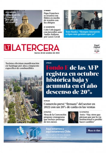 28-10-2021 La Tercera