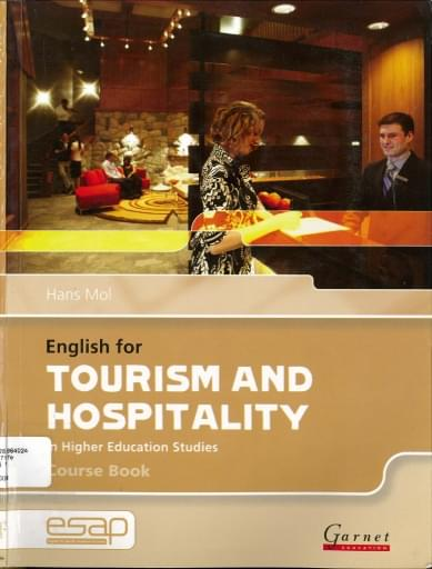 English for tourism and hospitality: in higher education studies. Course book